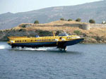 A hydrofoil returning from Hydra to Piraeus via Poros