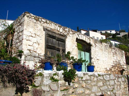Two plots of land for sale on Miaoulis Street 500 metres from Hydra harbour.